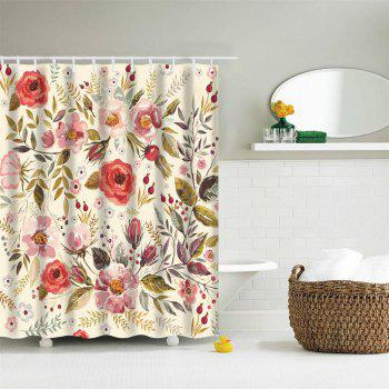 Romantic Flowers Water-Proof Polyester 3D Printing Bathroom Shower Curtain - multicolor A W71 INCH * L79 INCH