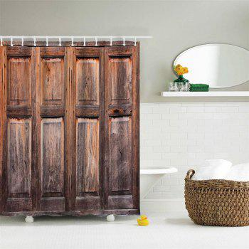 Old Wooden Windows Water-Proof Polyester 3D Printing Bathroom Shower Curtain - multicolor A W71 INCH * L71 INCH