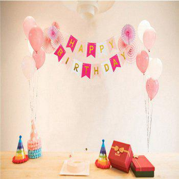 Happy Birthday Bunting Banner - PINK