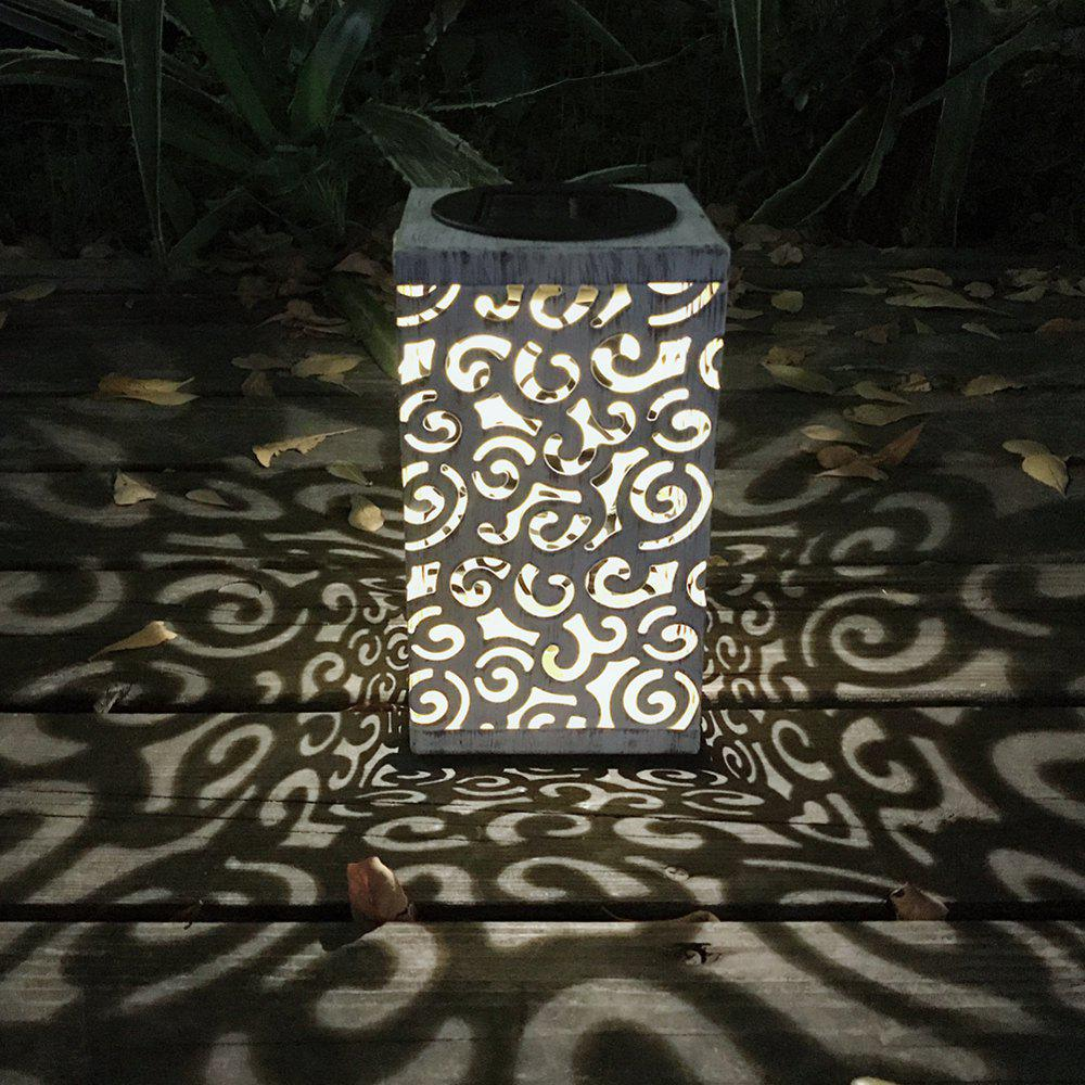 1PC Solar Lantern Table Lamp Double Using Lights - MILK WHITE