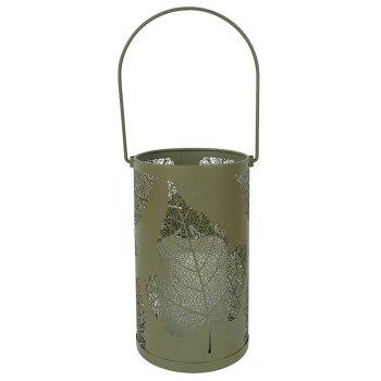 1PC Candle Lantern with Flickering Flameless Indoor Decorative Hanging Light - CAMEL BROWN