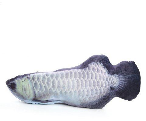 Funny Lifelike Fish Shape Pet Cat Kitten Cute Simulation Playing Toy - multicolor E 32CM / 12.6 INCH