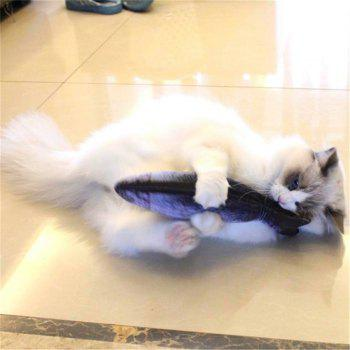 Funny Lifelike Fish Shape Pet Cat Kitten Cute Simulation Playing Toy - multicolor A 40CM / 15.8 INCH