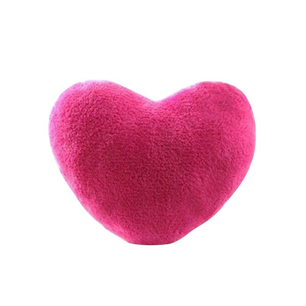 Cute Heart Plush Lovers Pillow - ROSE RED