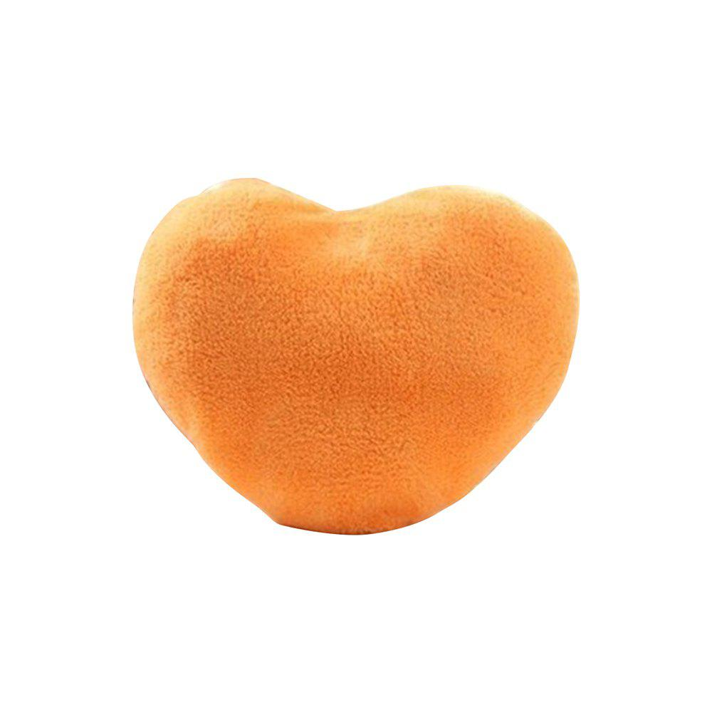 Cute Heart Plush Lovers Pillow - CANTALOUPE