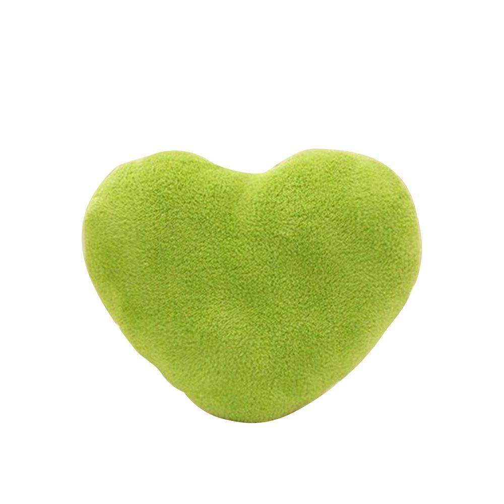 Cute Heart Plush Lovers Pillow - GREEN YELLOW