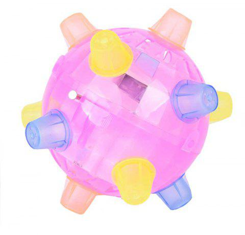 LED Jumping Ball Lighting Bouncing Dancing Toy - BLOSSOM PINK