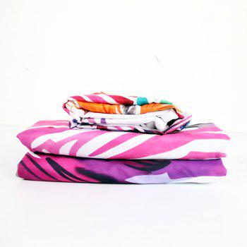 Zebra Bedding  Duvet Cover Set Digital Print 3pcs - multicolor FULL