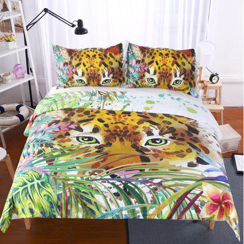 Animal Print Bedding  Duvet Cover Set Digital Print 3pcs - multicolor QUEEN