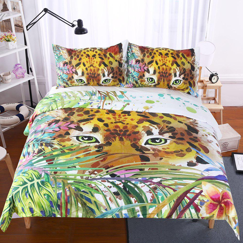Animal Print Bedding  Duvet Cover Set Digital Print 3pcs - multicolor FULL