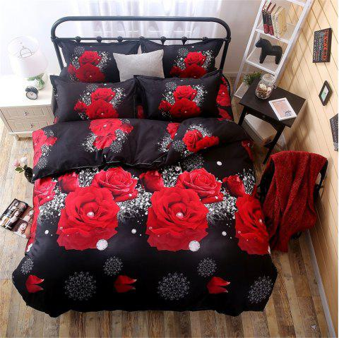 Duvet Cover Set 3d Oil Painting 2/3pcs Bedding Sets King Size Bedding Set - RED KING