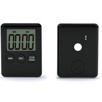 Mini Electronic Large LCD Digital Kitchen Timer Clock Countdown Count Time - BLACK