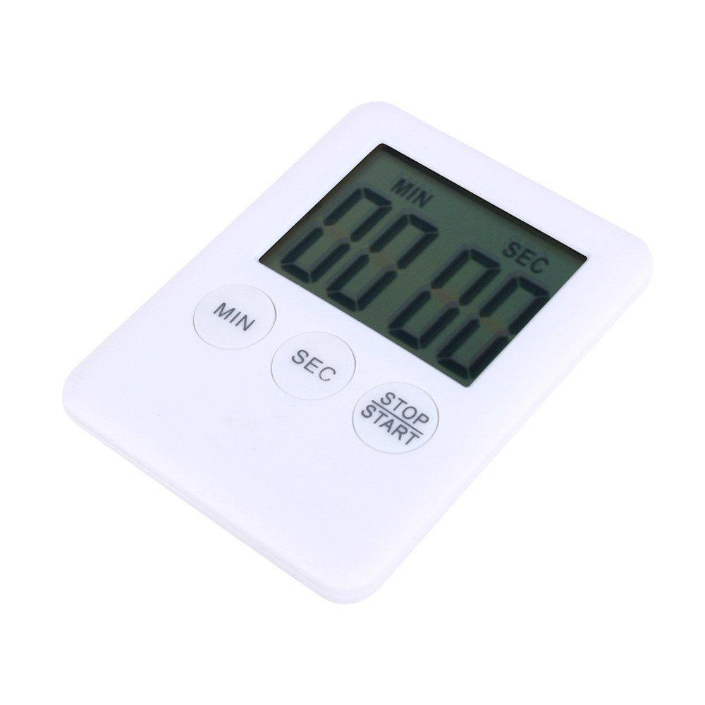 Mini Electronic Large LCD Digital Kitchen Timer Clock Countdown Count Time dmwd commercial eighth 8 channel key kitchen timer digital button timing reminder restaurant loud alarm countdown hamburger shop