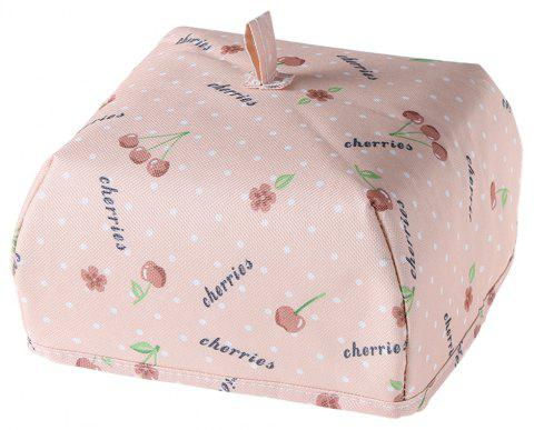 Folding Thick Insulation Food Dish Cover - LIGHT PINK LARGE