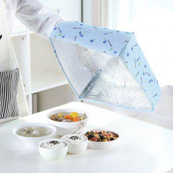 Folding Thick Insulation Food Dish Cover - DAY SKY BLUE MEDIUM