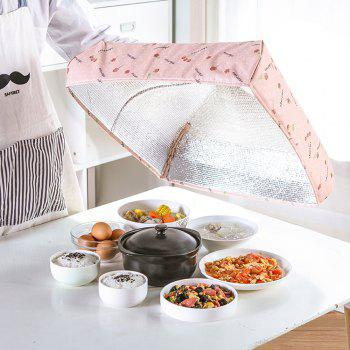 Folding Thick Insulation Food Dish Cover - LIGHT PINK MEDIUM