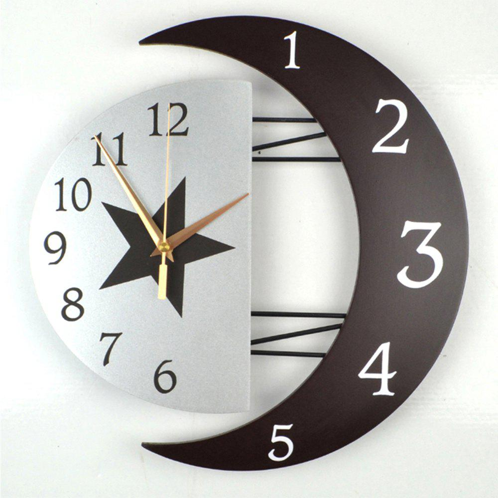 Modern Living Room Decorative Creative Star Moon Style Wooden Board Wall Clock wooden led wall lamps modern creative living room bedroom bedside wall lamp aisle corridor staircase wall sconce bathroom light