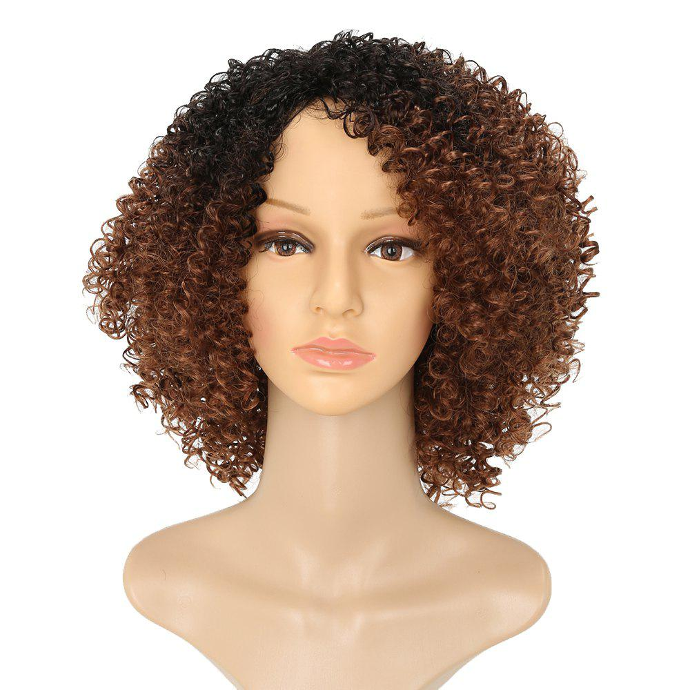 Afro Kinky Curly Hair Ombre Fluffy Short Synthetic Wigs for Girls cheap kinky curly wigs for black women synthetic hair synthetic lace front wig with baby hair synthetic lace front wigs