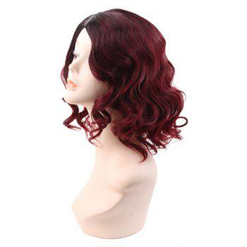 Red Afro Bouncy Curly Synthetic Short Hair Wigs For Women Halloween Cosplay - RED WINE 14INCH