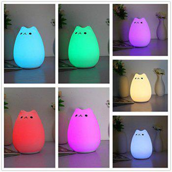 Colorful Silicone Animal USB Desktop Lamp Night Light Bedroom Decoration - WHITE