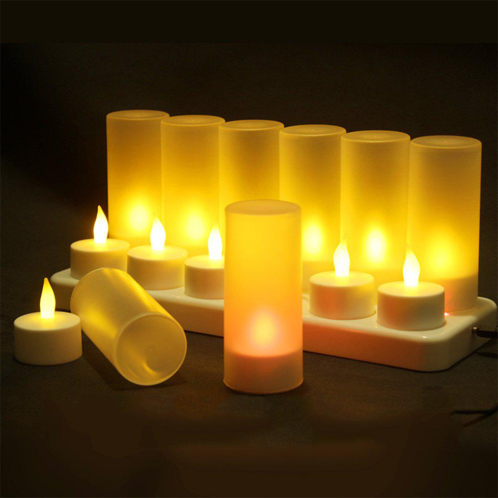 12 Creative Confession Romantic Charge Candle Lights - WHITE