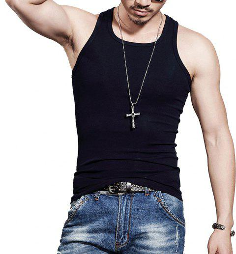 Men's Easy Sport Sleeveless Vest - BLACK L