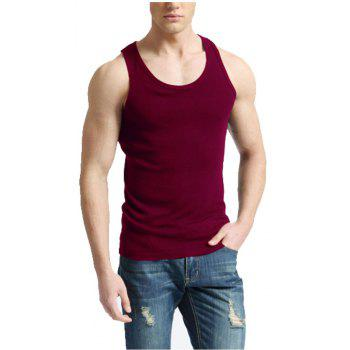 Men's Easy Sport Sleeveless Vest - RED WINE 3XL
