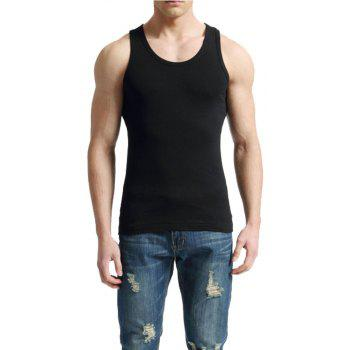 Men's Easy Sport Sleeveless Vest - BLACK 3XL