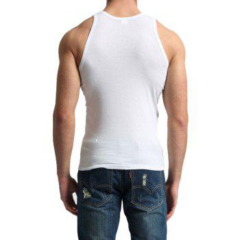 Men's Easy Sport Sleeveless Vest - WHITE M