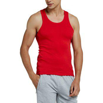 Men's Easy Sport Sleeveless Vest - RED L