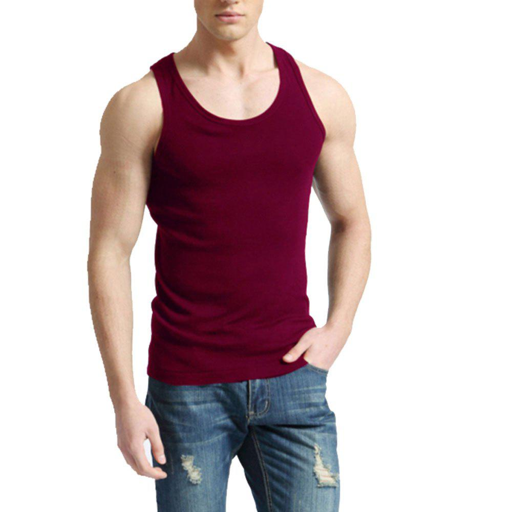 Men's Easy Sport Sleeveless Vest - RED WINE 2XL
