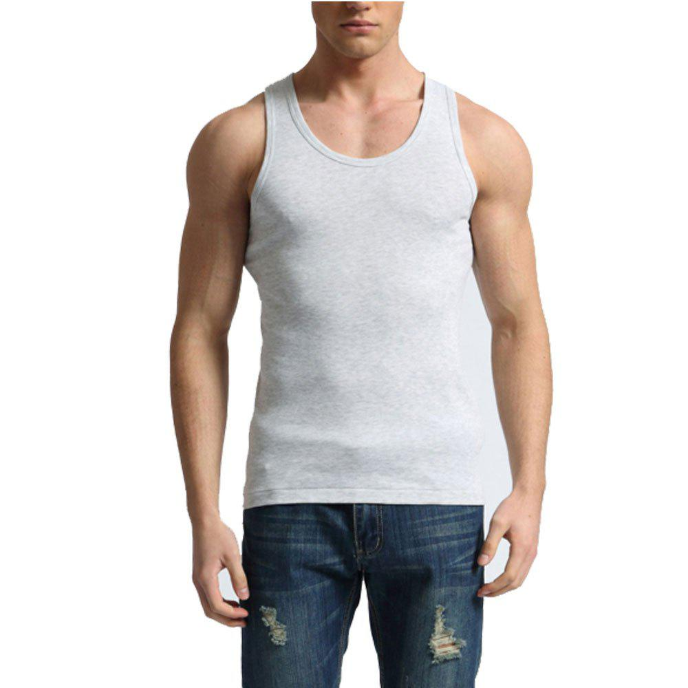 Men's Easy Sport Sleeveless Vest - GRAY L