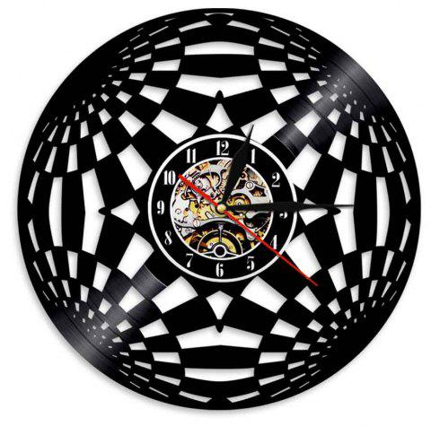 Vinyl Wall Clock Art Present - BLACK WITHOUT BATTERY