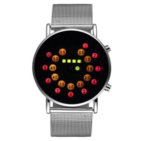 Seasonal 3150907 Waterproof  LED Digital Neutral Watch - LOVE RED
