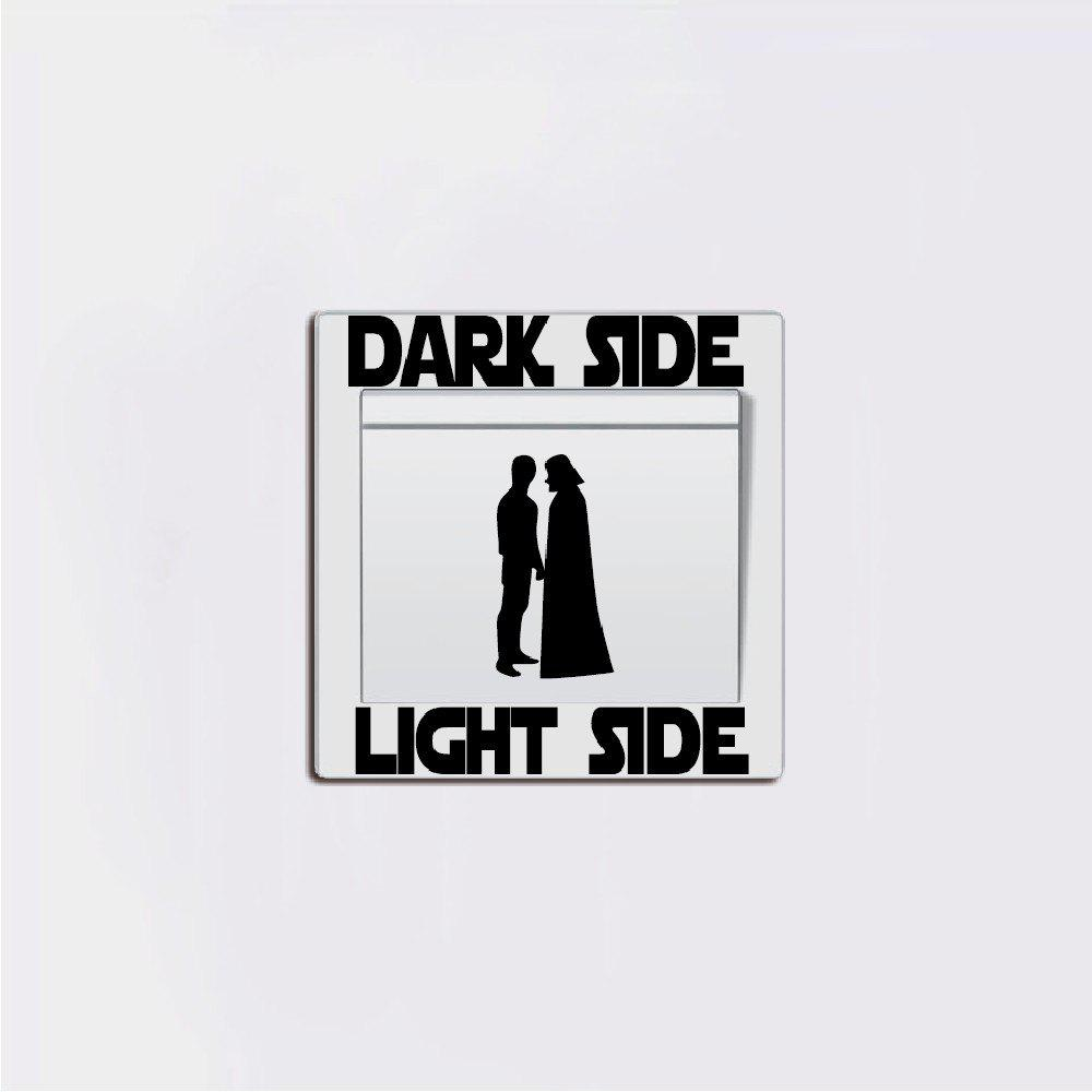 People Silhouette Light Side Switch Sticker Cartoon Vinyl Wall Decal random cartoon ceramic tile decal 1pc