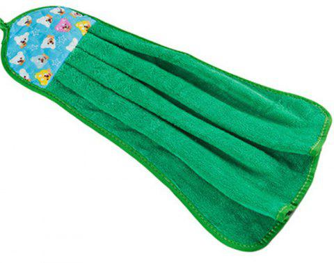 BA016 Hung Up Thickening Super Absorbent Coral Velvet Towel - GREEN