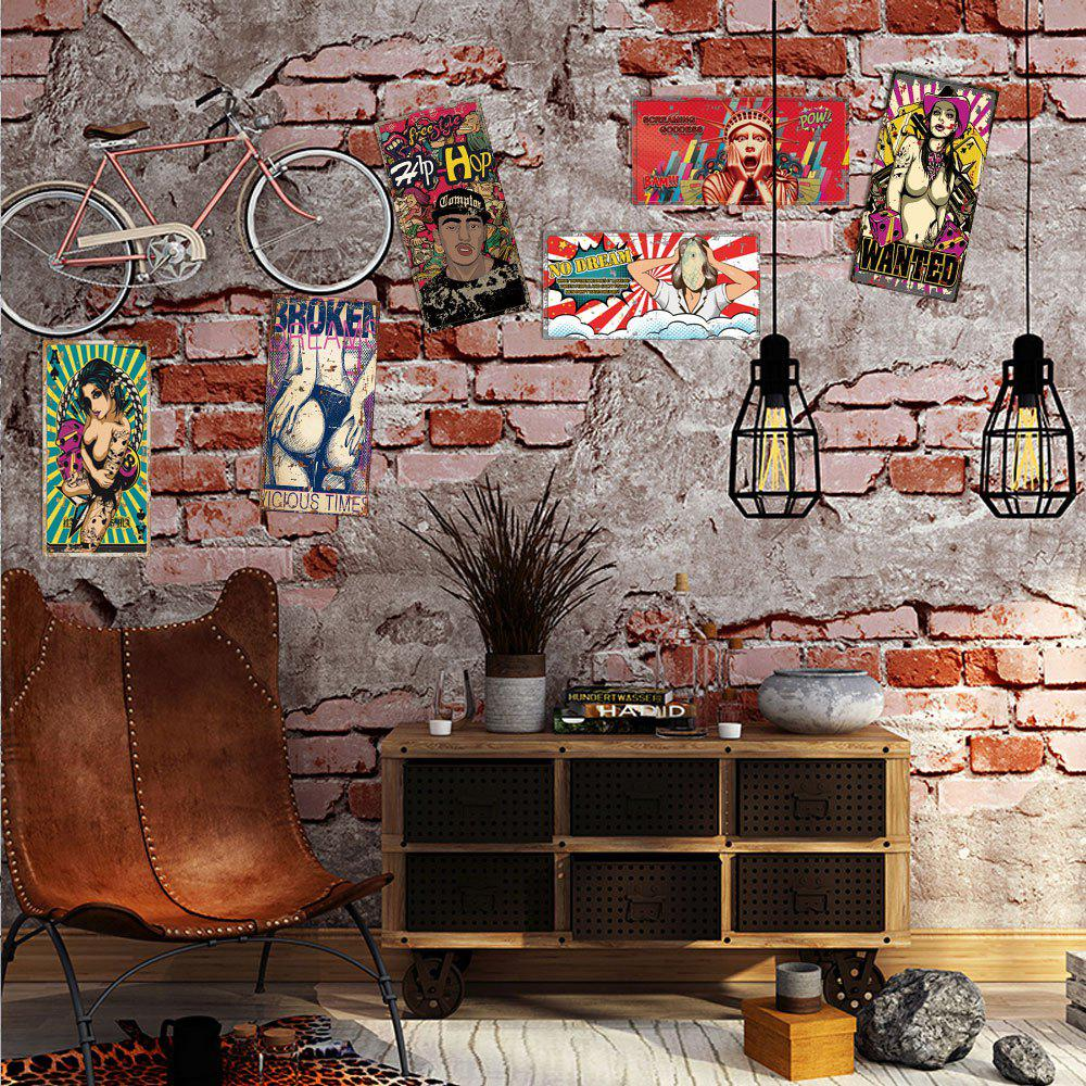 DSU 3D Custom Wall Painting Graffiti Sexy Beauty Brick Wallpaper custom size photo retro brick wall wallpaper black and white graffiti wall painting wallpaper mural