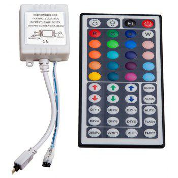 SUPli 5M 5050 300 RGB LED Strip with 44key Ir Controller and Mounting Bracket - WHITE