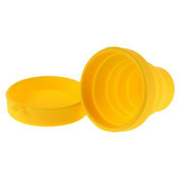 Portable Collapsible Travel Silicone Folding Cup Retractable Gargle Mug - RUBBER DUCKY YELLOW