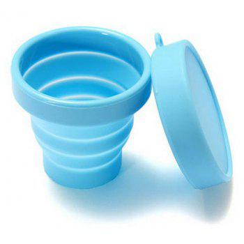 Portable Collapsible Travel Silicone Folding Cup Retractable Gargle Mug - DEEP SKY BLUE
