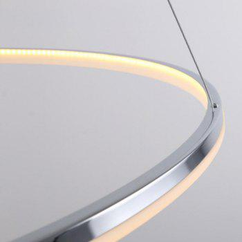 Modern LED Ring Shape Pendant Lamp Creative Style for Living Dining Office Room - WARM WHITE 110 - 120V