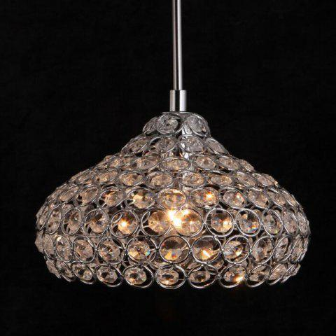 New Modern Crystal Lustre Pendant Light for Dining Room DD-07 - SILVER 110 - 120V