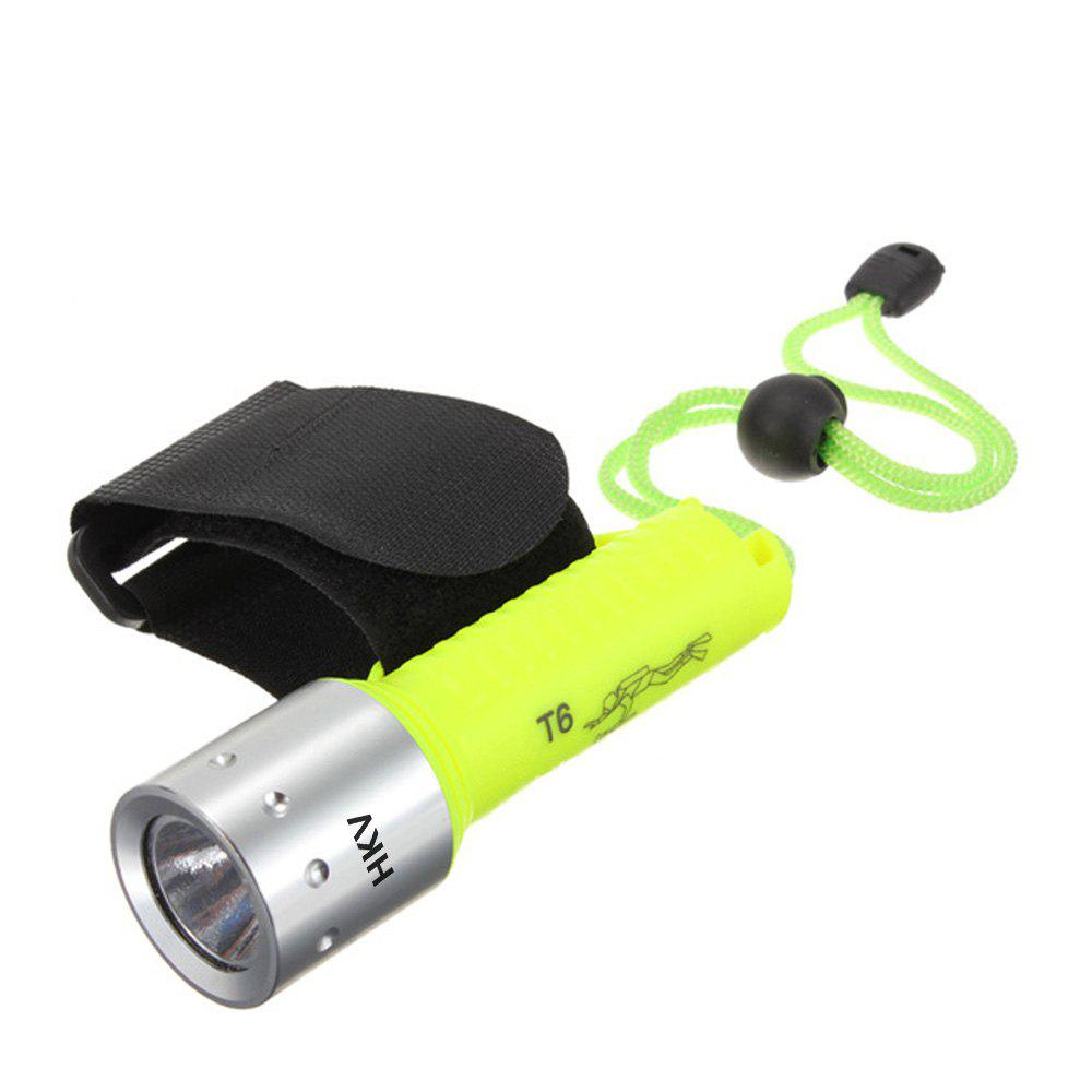 HKV 800 Lumens LED Rechargeable Diving Flashlight 0 50m professional diving light 5000 lumens high power diving flashlight 3 led flashlight waterproof diving torch