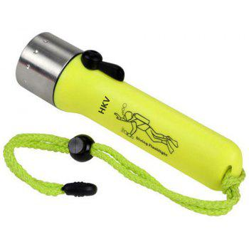 HKV LED Waterproof Diving Flashlight 200-500 Lumens for Underwater Lamp Hiking - COOL WHITE