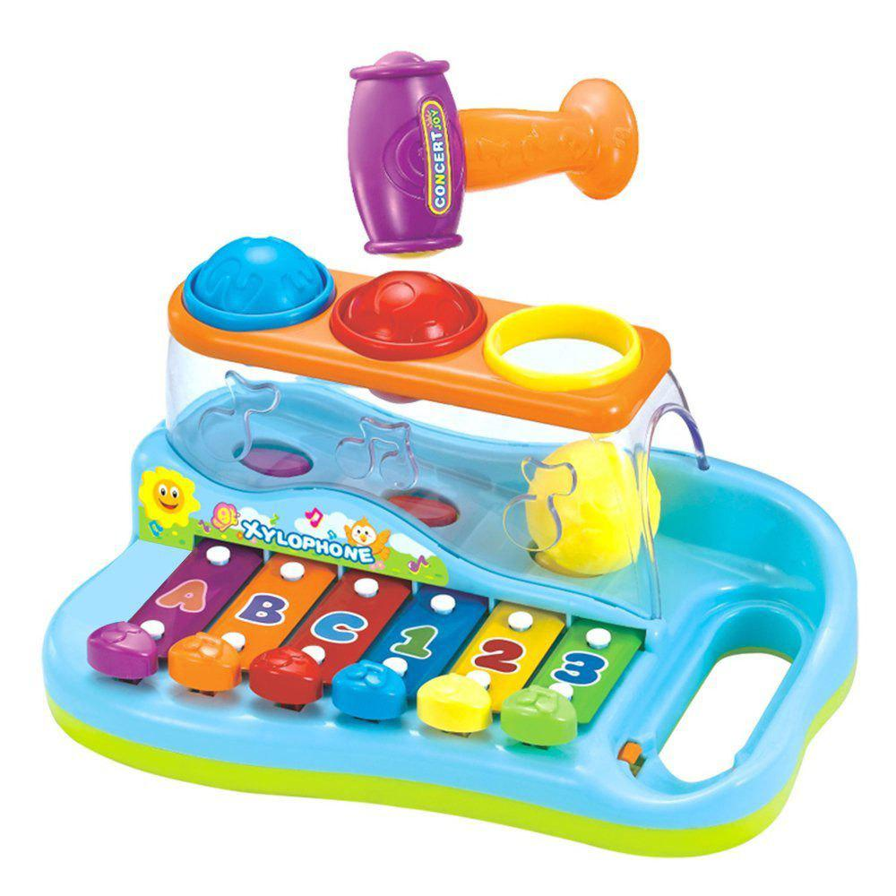 Early Education 1 Year Olds Baby Toy Enlighten Xylophone with 3 Color Balls