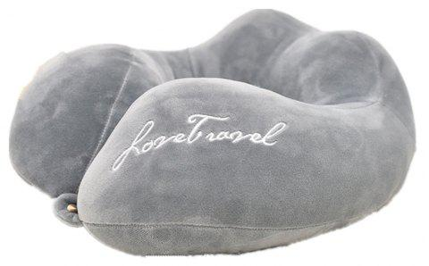 Creative Gifts U-Shaped Pillow Neck PP Cotton Air Travel - GRAY CLOUD