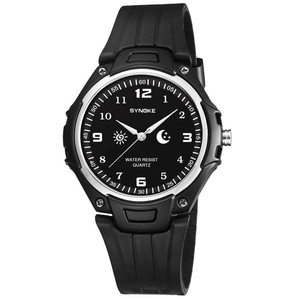 SYNOKE 9618 Men'S Ultra-Thin Quartz Watch - BLACK