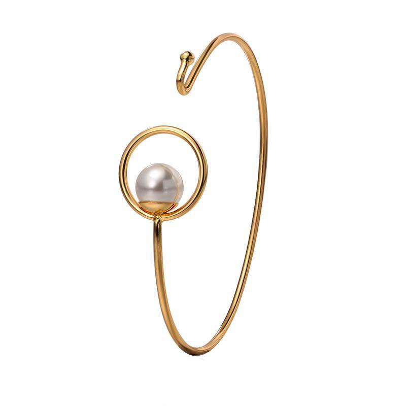 New Fashion Metal Hollow Circle Geometric Bracelet - GOLD