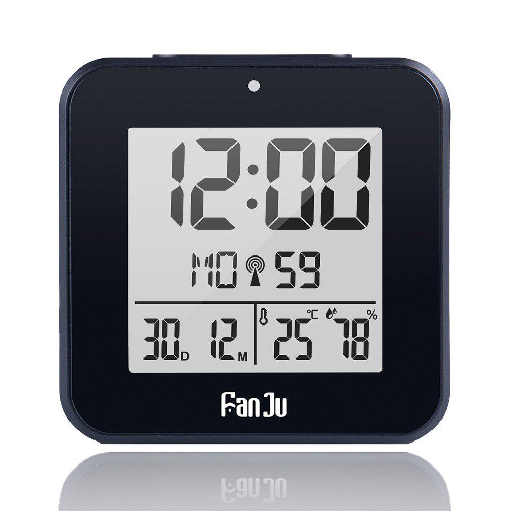 FanJu FJ3533 LCD Digital Alarm Clock with Indoor Temperature and Humidity