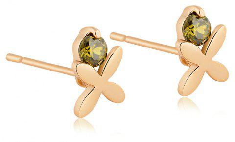 Exquisite Zircon Earrings ERZ0140 - FOREST GREEN